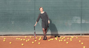 Margherita Iannucci sul campo da tennis: donna e psicologa dello sport